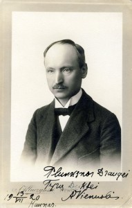 Rašytojo Antano Vienuolio autografas