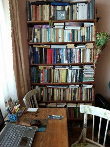 Elenos knygų lentyna