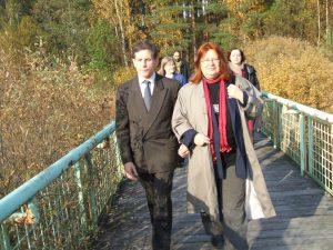 Rašytojai Alvydas Valenta ir Gintarė Adomaitytė