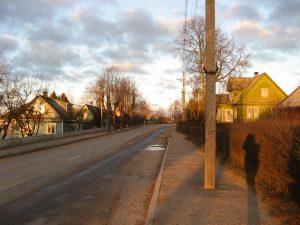 "Šaltupės gatvės makondas / namas / kur dienąnakt praviros durys / į gatvę (""Vienatvės erčia"")"
