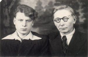 Tremtis. Su tėvu Tulune.