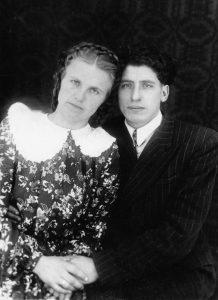 Mama ir tėtis Uršulė ir Antanas Katinai.