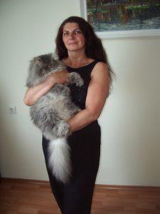 Regina Katinaitė su geriausiu draugu Debesėliu