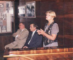 Poetinis Druskininkų ruduo. Poezijos klausosi Vytautas Landsbergis ir Kornelijus Platelis.