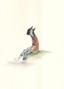 Mergaitė Katė. Studijų laikų piešinys