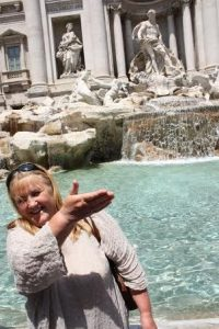 Prie Trevi fontano