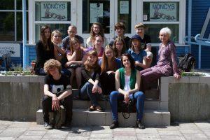 Birutės organizuojama jaunųjų literatų Vasaros akademija Palangoje, 2012. R. Šileikos nuotrauka.