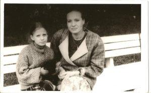 Aš ir mama Jaunimo sode.