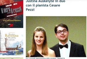 Justinos ir Cesare koncertų plakatas