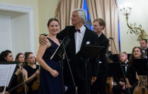 Dainininkė Lina Dambrauskaitė (sopranas, Sigutės Stonytės klasė) ir Josefas Wallnigas. M. Ambrazo nuotrauka