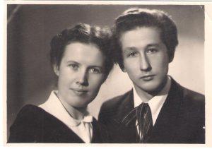 Mamos ir tėvelio vestuvinė nuotrauka. 1958 02 16