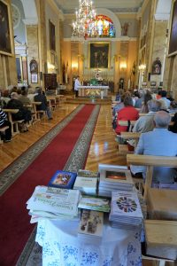 """""""Indros leidyba"""" Mielagėnų bažnyčioje. E. Ostašenkovo nuotrauka."""