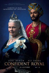 """Stephen Frears drama """"Viktorija ir Abdulas"""" (""""Victoria & Abdul""""; 2017). Filmo afiša Prancūzijos kino teatruose."""