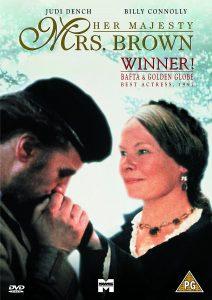 """2. Judi Dench tenka jau ne pirmą kartą vaidinti Didžiosios Britanijos karalienę Viktoriją. Filmo """"Mrs Brown"""" (1997) afiša."""