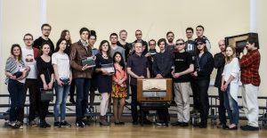 M. Urbaitis su kolegomis ir studentais 2015 m. (c) LMTA, D. Matvejevo nuotrauka