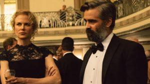 """Anna (Nicole Kidman) ir Stevenas (Colin Farrell) dramoje """"Šventojo elnio žudymas""""."""