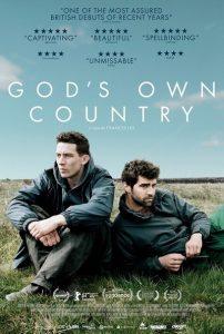 """Filmo """"Sava žemė"""" (""""God's Own Country"""") afiša leidžia numanyti, kad režisierius Francisas Lee savaip perkūrė žymųjį Ango Lee """"Kuprotą kalną"""" (""""Brokeback Mountain""""; 2005)."""