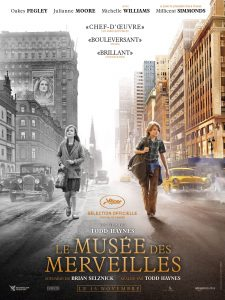 """Todd Haynes """"Stebuklų muziejus"""" (""""Wonderstruck""""). Filmo afiša Prancūzijos kino teatruose."""