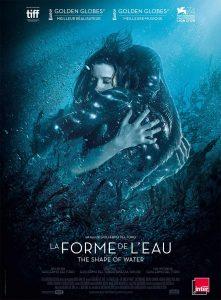 """Guillermo del Toro naujojo filmo """"Vandens forma"""" afiša."""