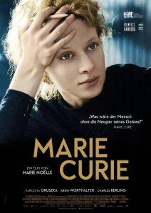 "Vokiškas filmo ""Marie Curie"" afišos variantas."