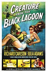 """Jacko Arnoldo siaubo filmas """"Būtybė iš Juodosios lagūnos"""" (1954) - vienas iš pirmųjų Guillermo del Toro kino atsiminimų - tapo atspirties tašku kuriant """"Vandens formą"""" (2017)."""