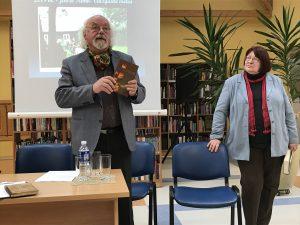 Vaižganto premijos laureatai Rimantas Vanagas ir Gintarė Adomaitytė renginyje Vaižgantas ir mes. Ignalina, 2019