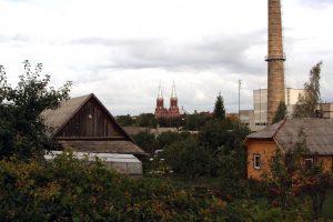 Anykščių bokštai ir kaminai. R. Šileikos nuotrauka