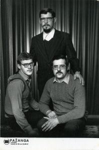Trys broliai Petras, Albinas, Ričardas. Nuotrauka iš asmeninio arcyvo