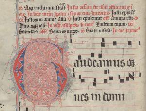 Bernardinų rankraščio fragmentas. Šaltinis – Lietuvos mokslų akademijos Vrublevskių biblioteka