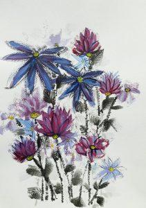 Dvi mėlynos gėlės