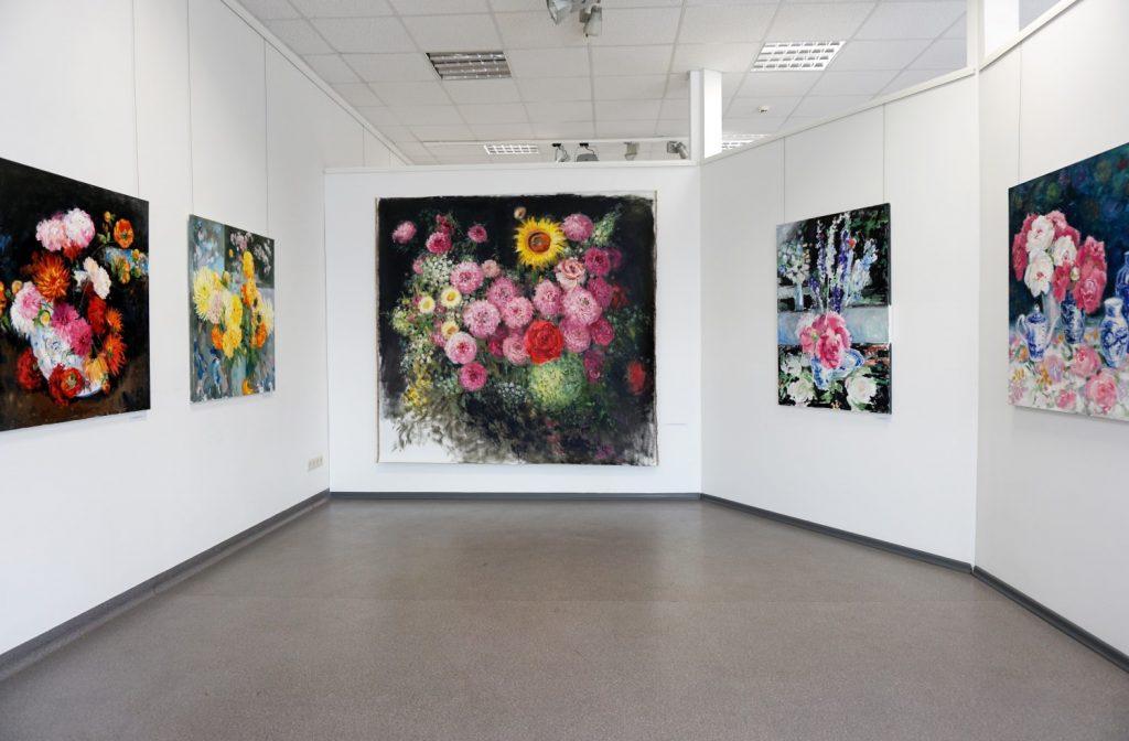 Lilianos Žutautienės parodoje Dusetose, 2021